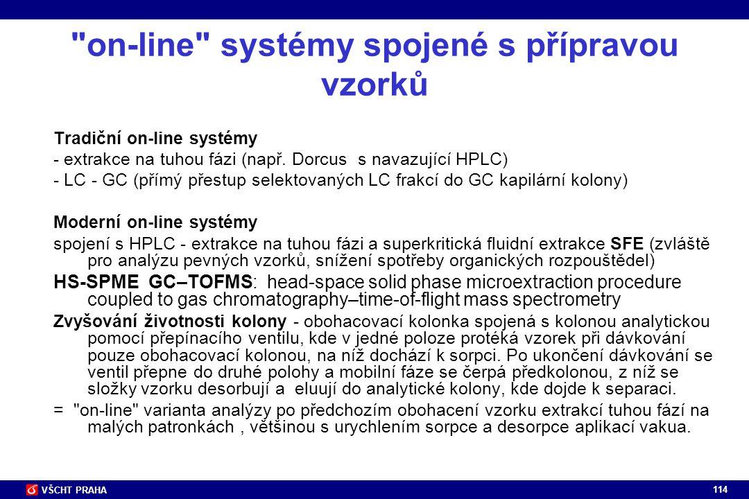 on-line systémy spojené s přípravou vzorků