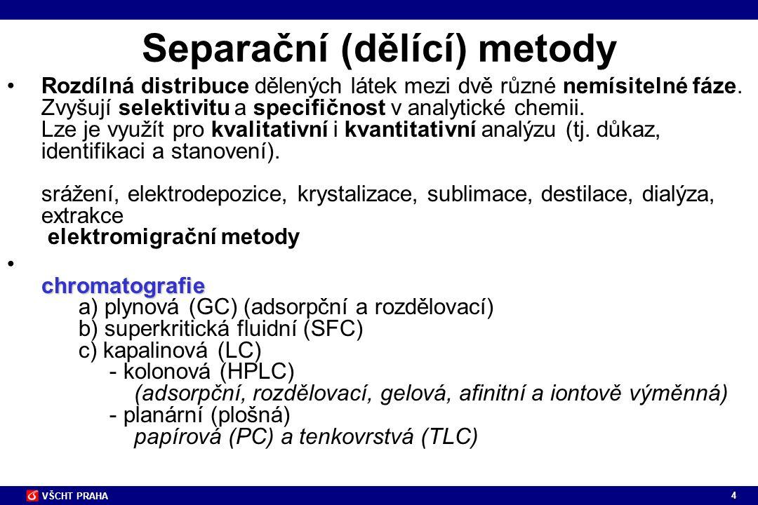Separační (dělící) metody