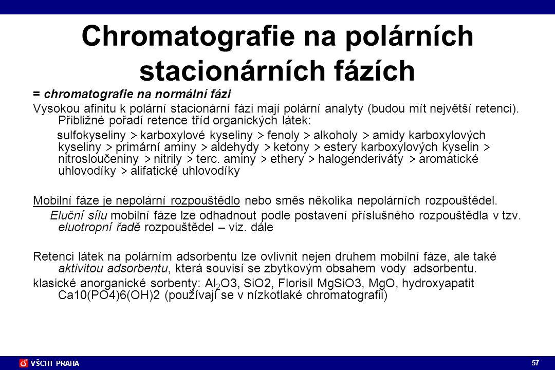 Chromatografie na polárních stacionárních fázích