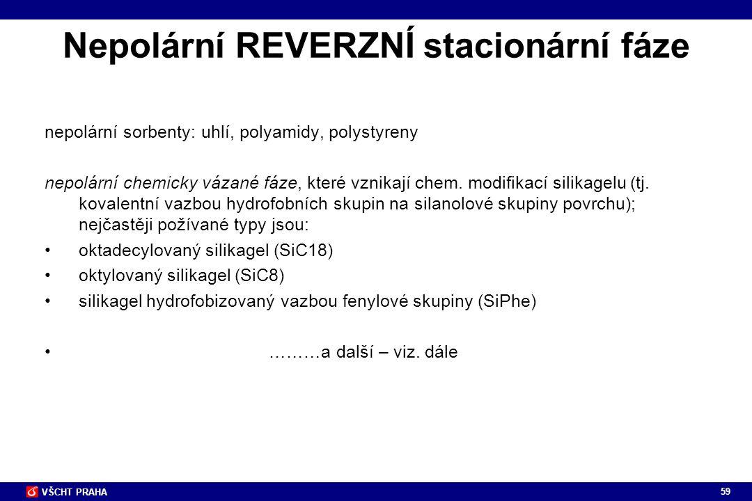 Nepolární REVERZNÍ stacionární fáze