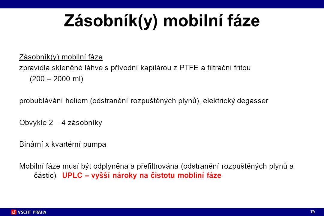 Zásobník(y) mobilní fáze