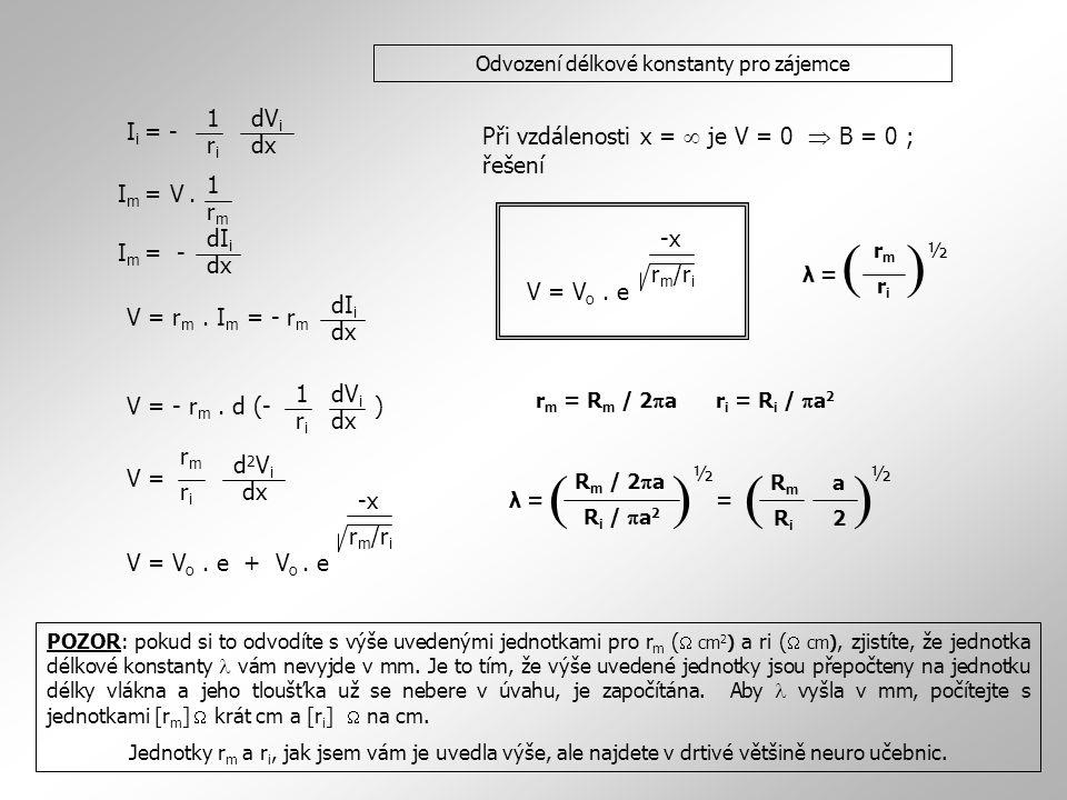 Odvození délkové konstanty pro zájemce