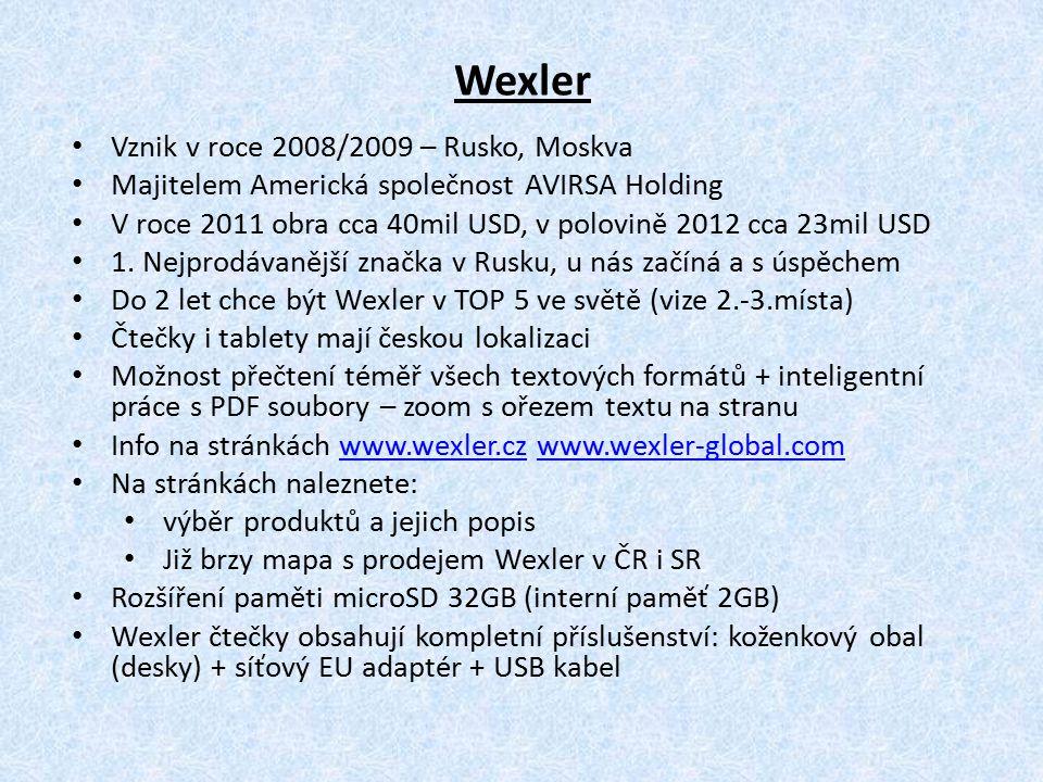 Wexler Vznik v roce 2008/2009 – Rusko, Moskva