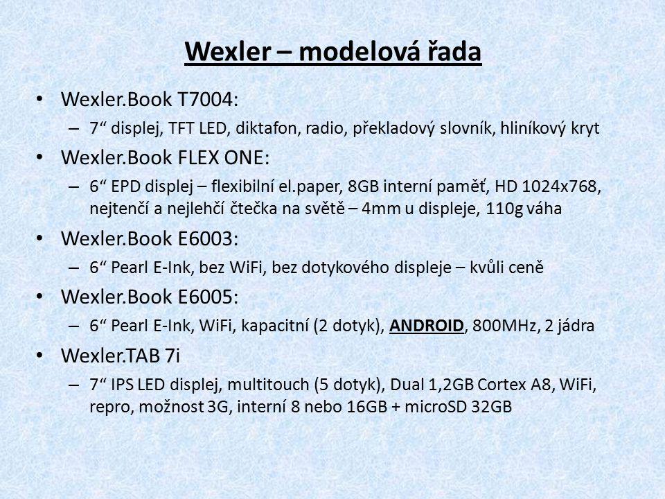 Wexler – modelová řada Wexler.Book T7004: Wexler.Book FLEX ONE:
