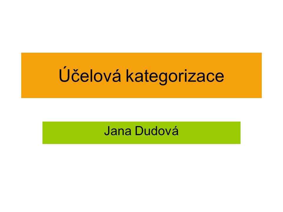 Účelová kategorizace Jana Dudová