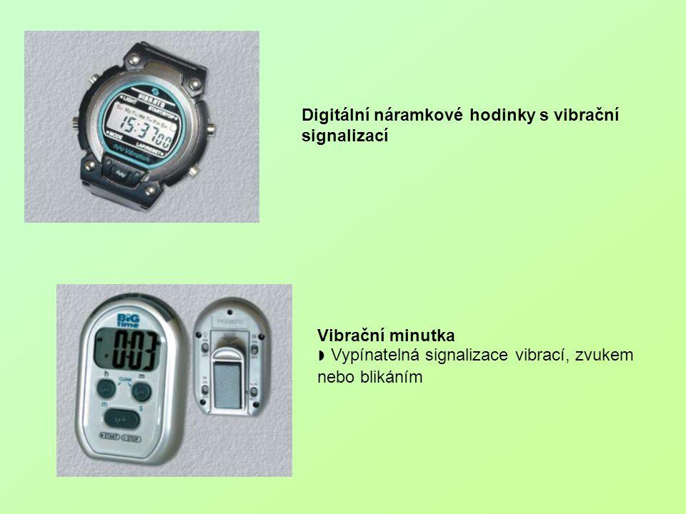Digitální náramkové hodinky s vibrační signalizací