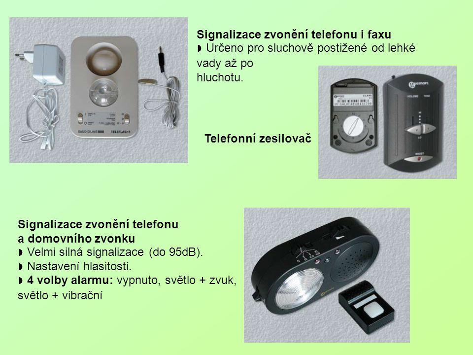 Signalizace zvonění telefonu i faxu