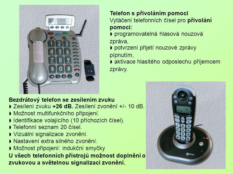 Telefon s přivoláním pomoci