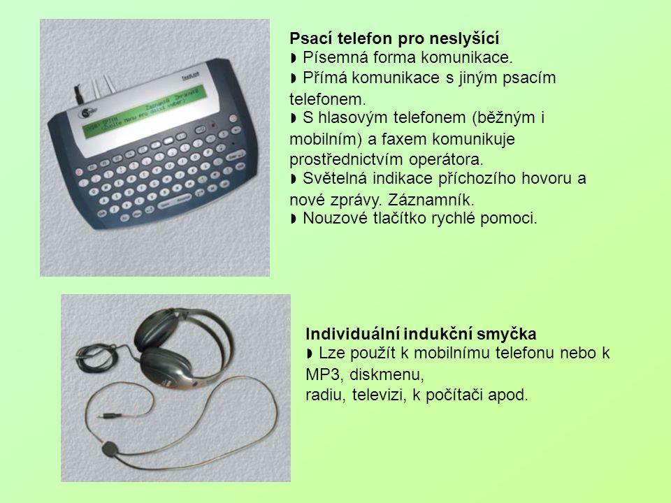 Psací telefon pro neslyšící