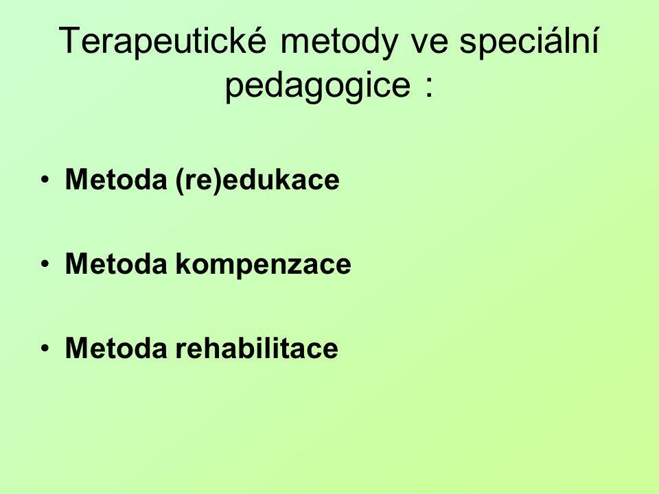 Terapeutické metody ve speciální pedagogice :