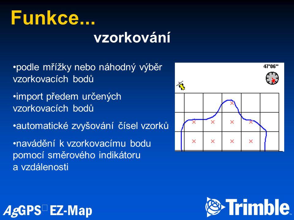 Funkce... vzorkování podle mřížky nebo náhodný výběr vzorkovacích bodů
