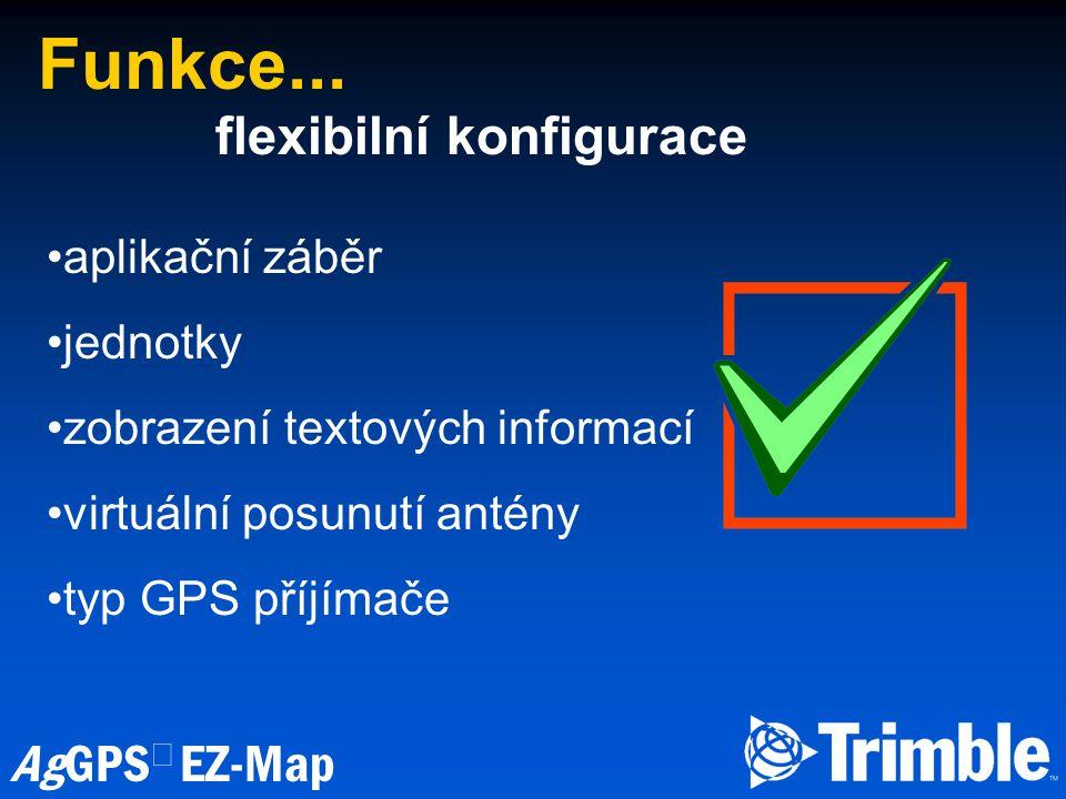 Funkce... flexibilní konfigurace aplikační záběr jednotky