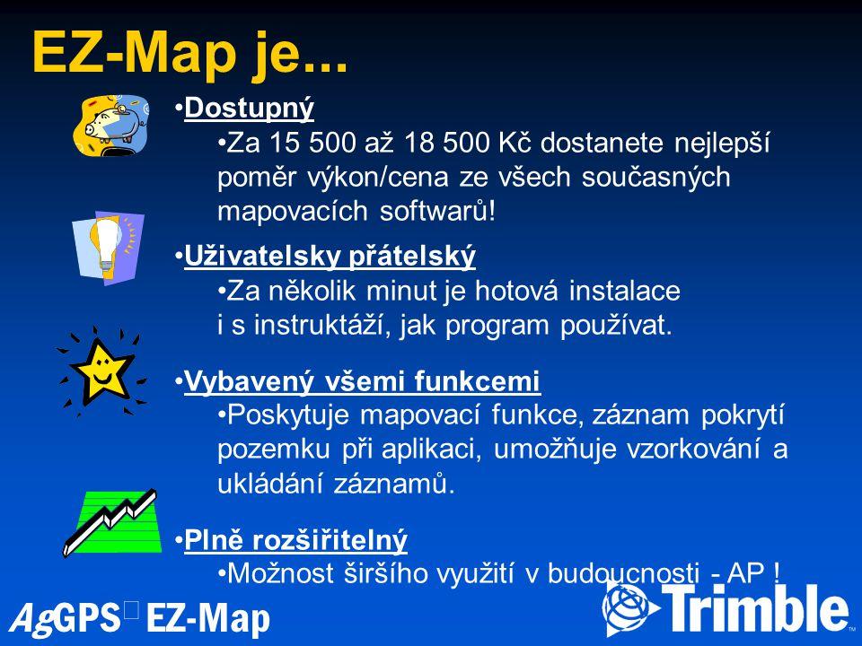 EZ-Map je... Dostupný. Za 15 500 až 18 500 Kč dostanete nejlepší poměr výkon/cena ze všech současných mapovacích softwarů!