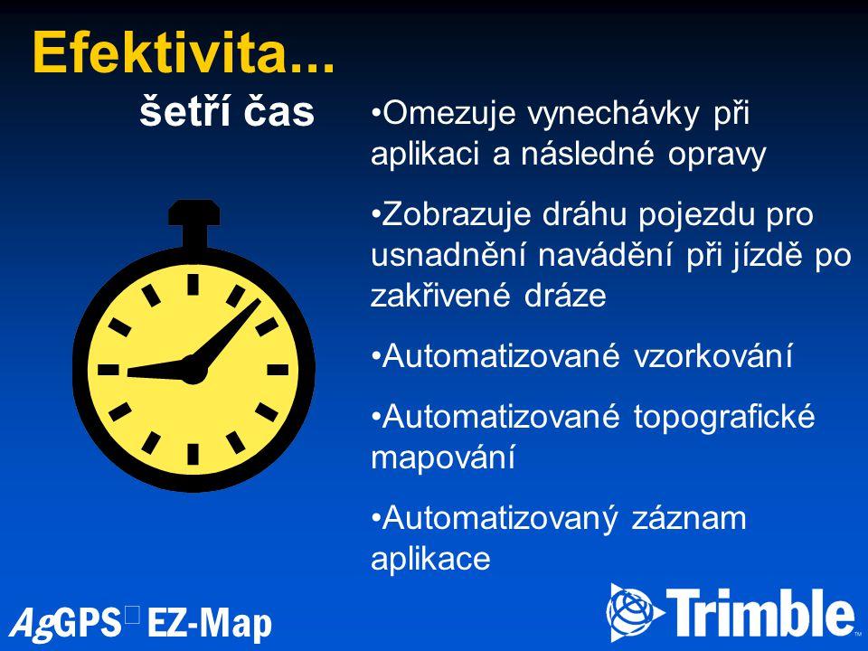 Efektivita... šetří čas. Omezuje vynechávky při aplikaci a následné opravy.