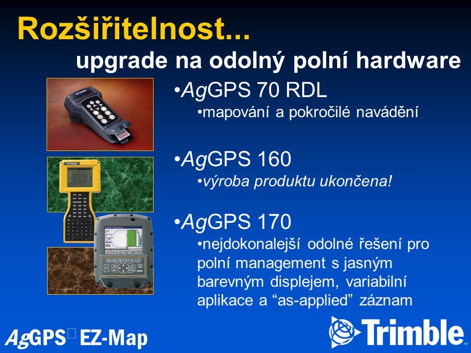 Rozšiřitelnost... upgrade na odolný polní hardware AgGPS 70 RDL