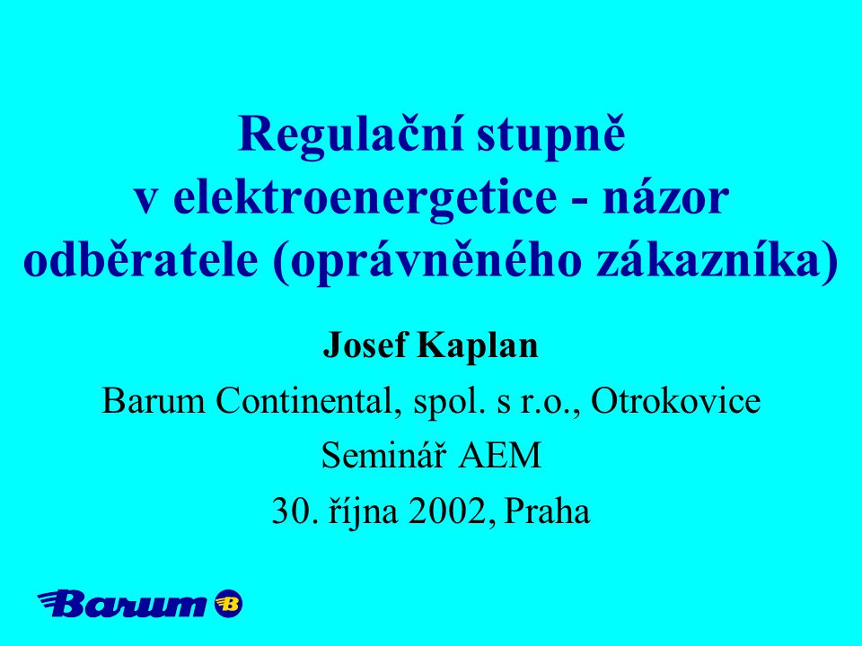 Barum Continental, spol. s r.o., Otrokovice