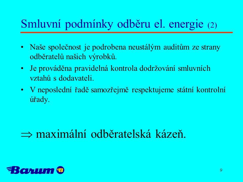 Smluvní podmínky odběru el. energie (2)