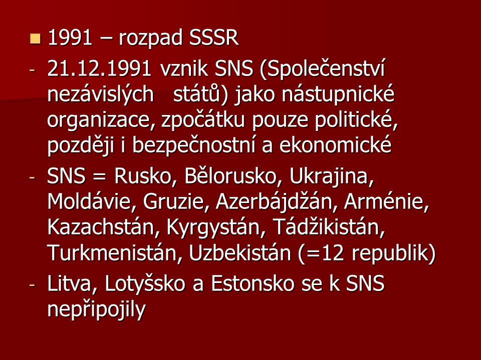 1991 – rozpad SSSR