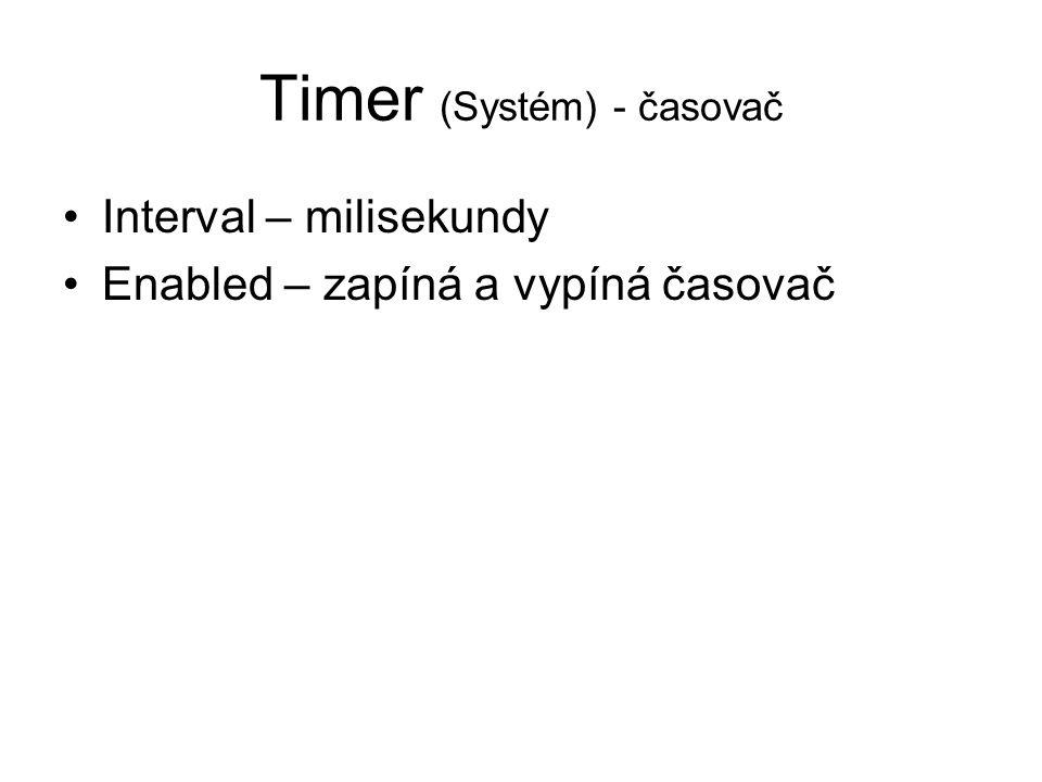 Timer (Systém) - časovač