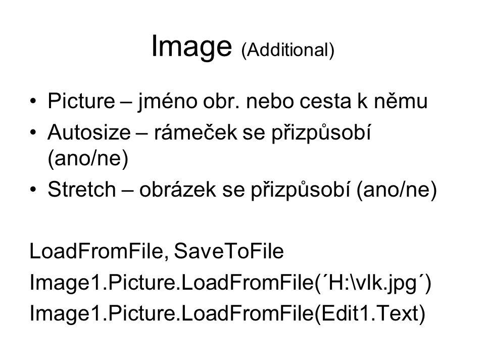 Image (Additional) Picture – jméno obr. nebo cesta k němu