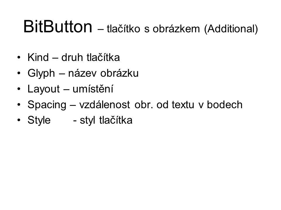 BitButton – tlačítko s obrázkem (Additional)