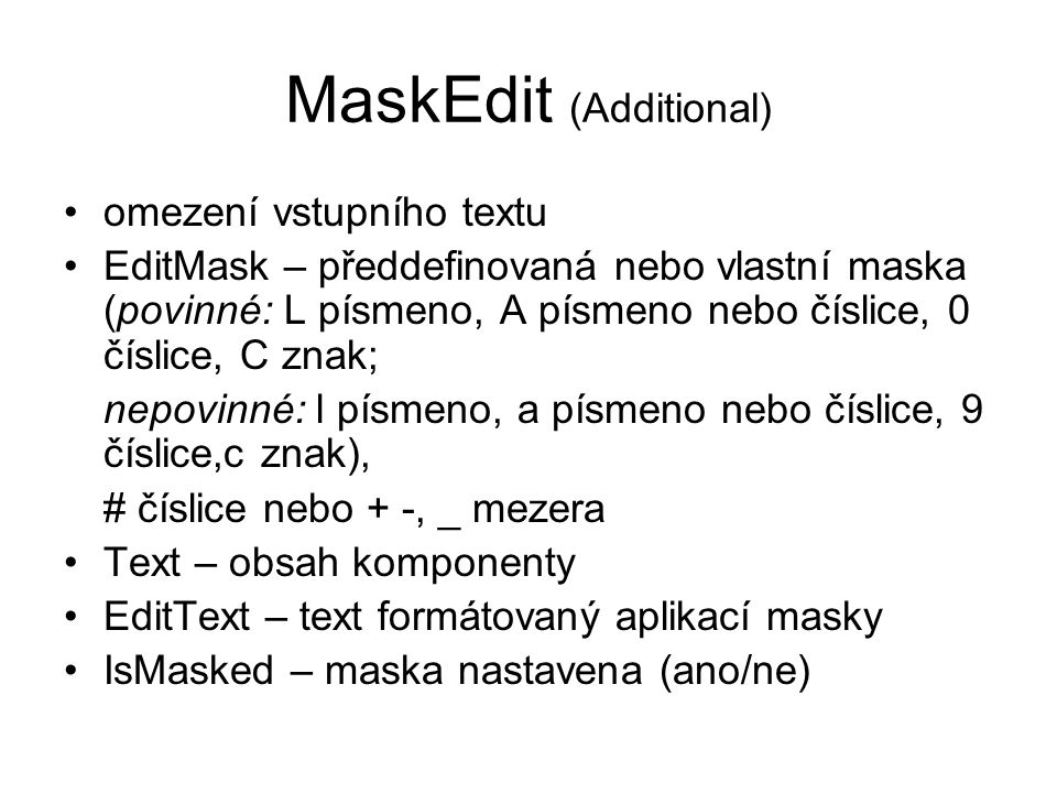MaskEdit (Additional)