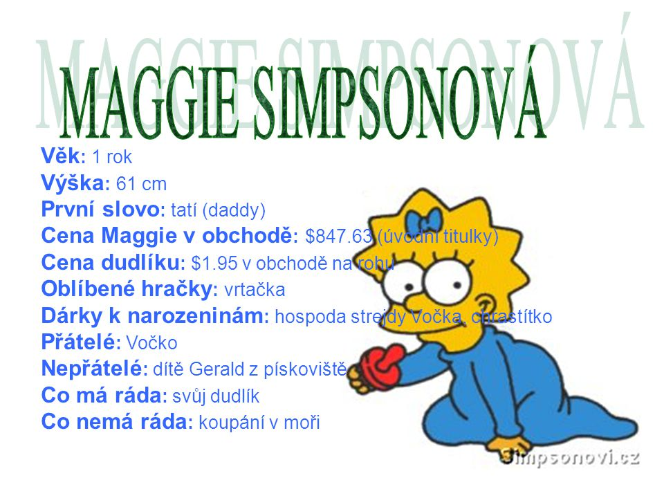 MAGGIE SIMPSONOVÁ