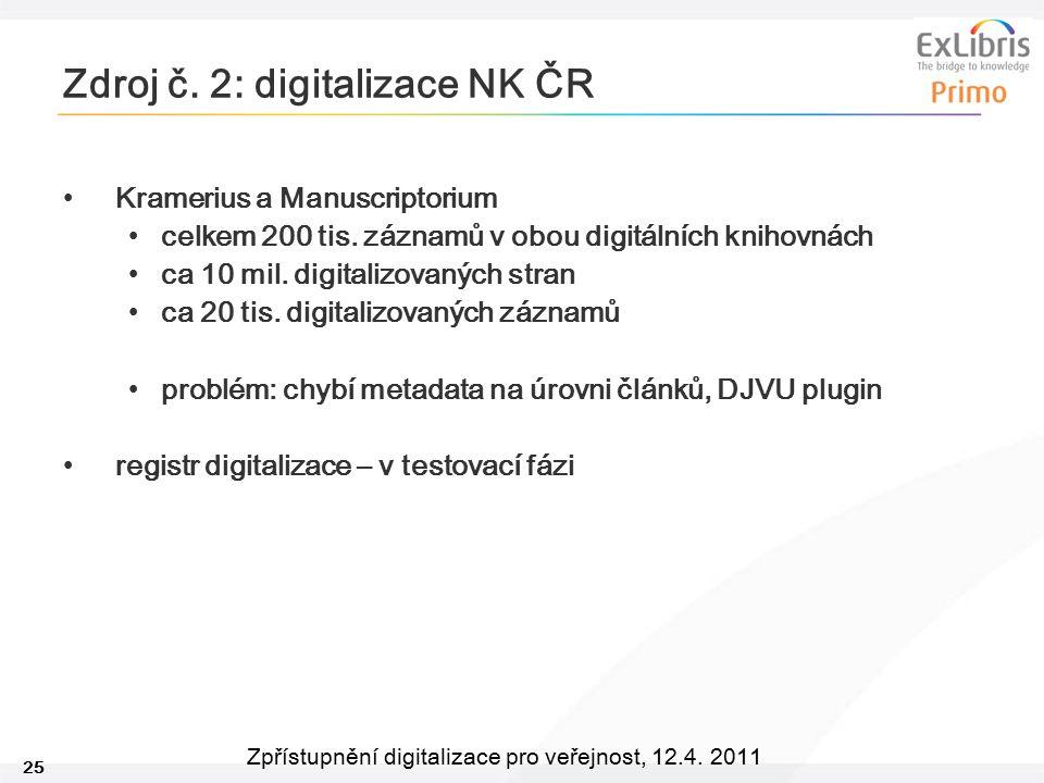 Zdroj č. 2: digitalizace NK ČR