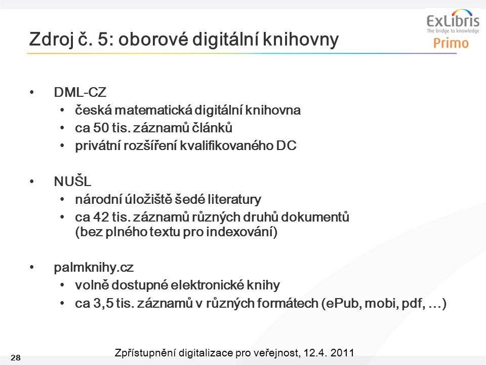 Zdroj č. 5: oborové digitální knihovny