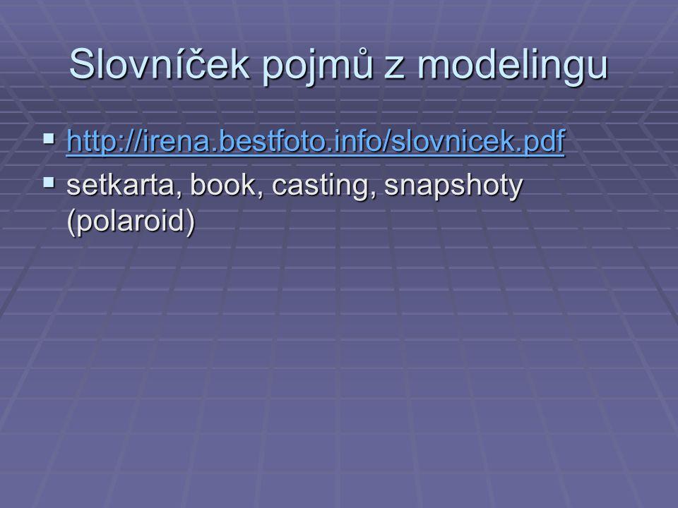 Slovníček pojmů z modelingu
