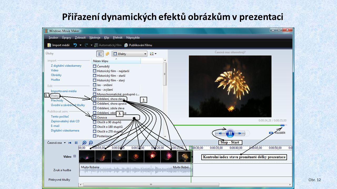 Přiřazení dynamických efektů obrázkům v prezentaci