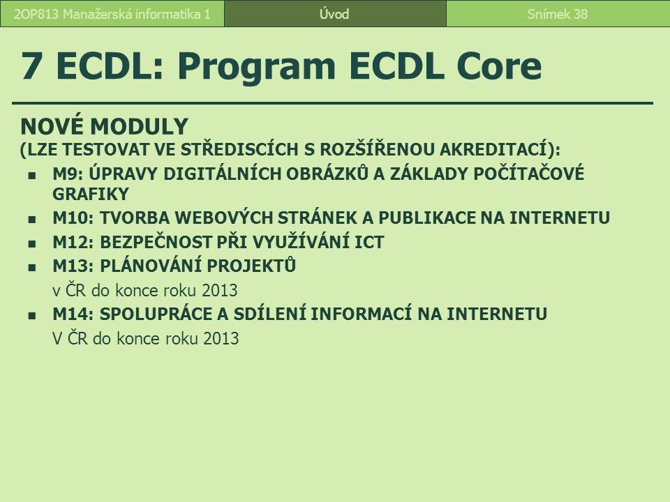 7 ECDL: Program ECDL Core