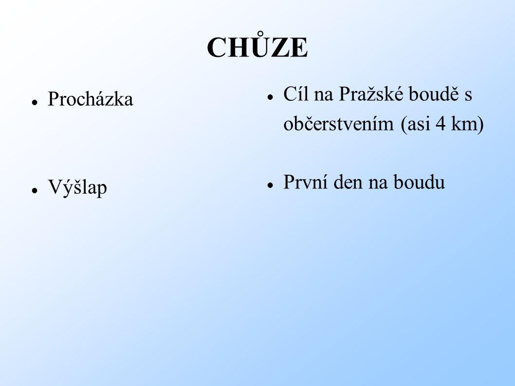 CHŮZE Cíl na Pražské boudě s Procházka občerstvením (asi 4 km)