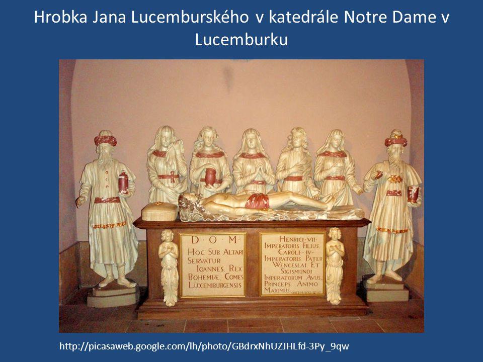 Hrobka Jana Lucemburského v katedrále Notre Dame v Lucemburku