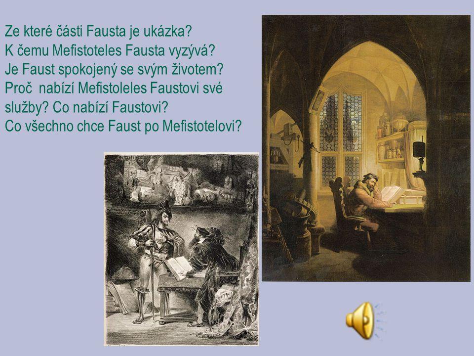 Ze které části Fausta je ukázka