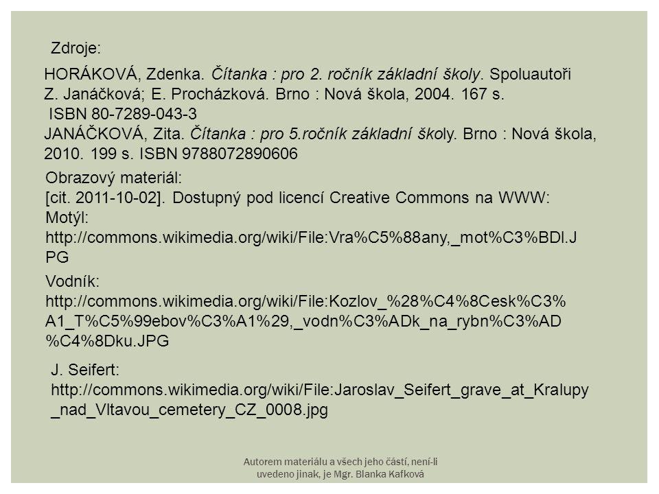 HORÁKOVÁ, Zdenka. Čítanka : pro 2. ročník základní školy. Spoluautoři
