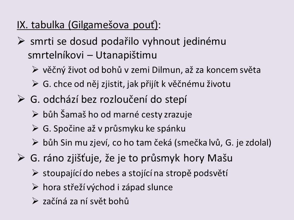 IX. tabulka (Gilgamešova pouť):