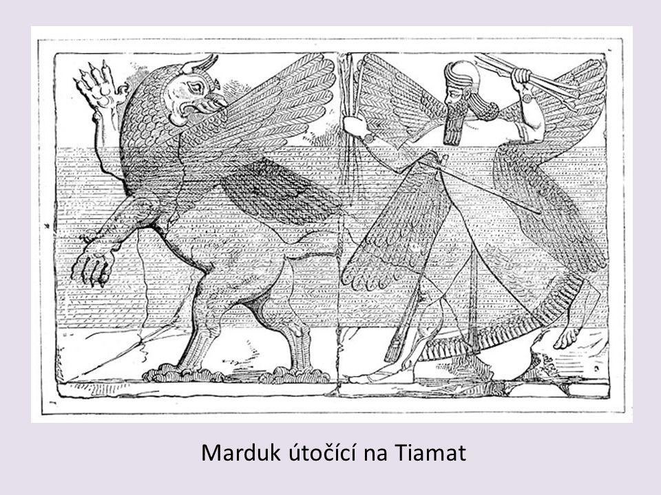 Marduk útočící na Tiamat