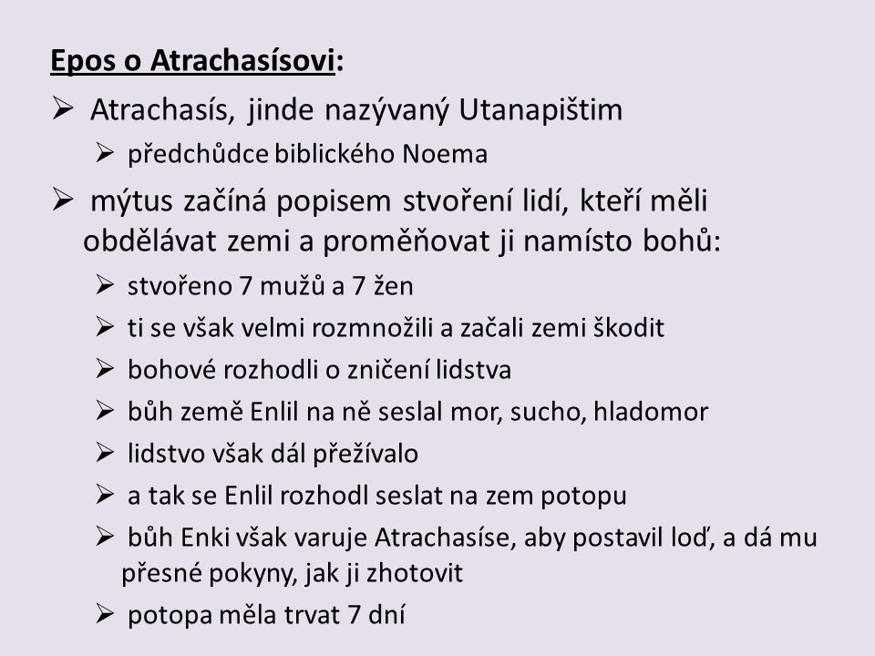 Atrachasís, jinde nazývaný Utanapištim