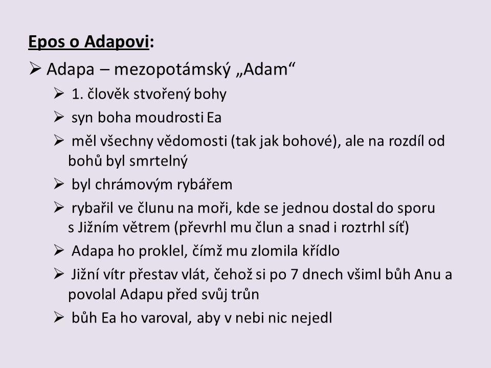 "Adapa – mezopotámský ""Adam"