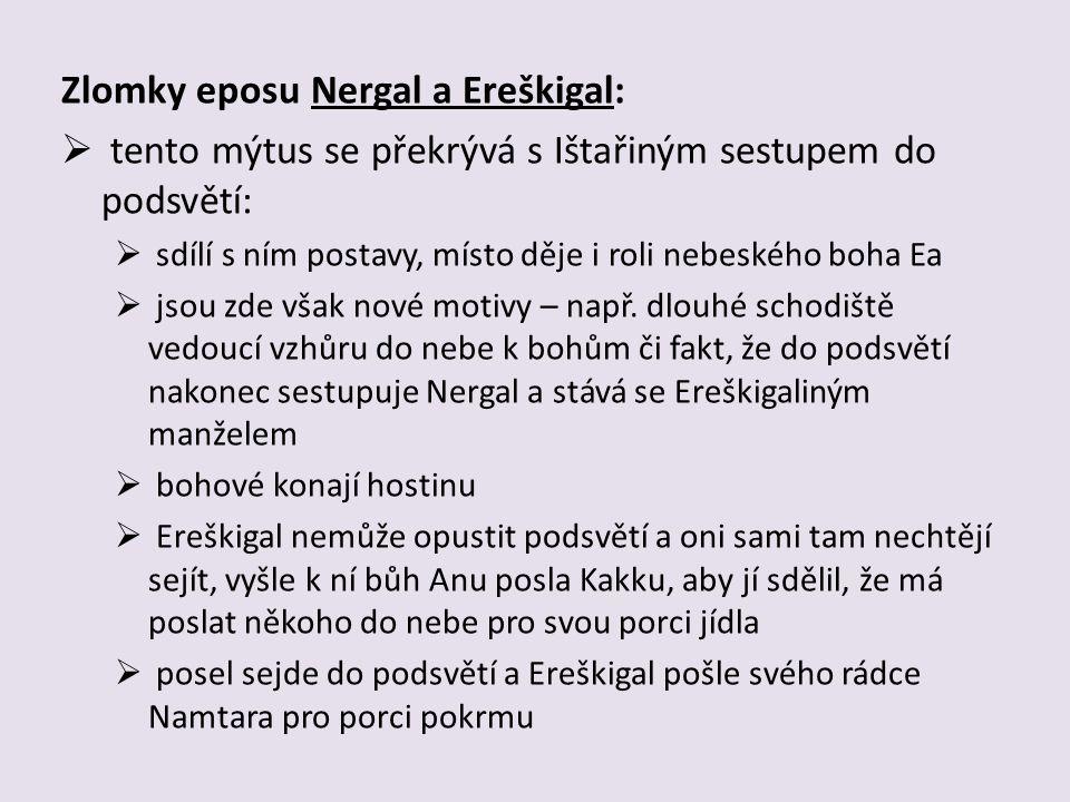 Zlomky eposu Nergal a Ereškigal: