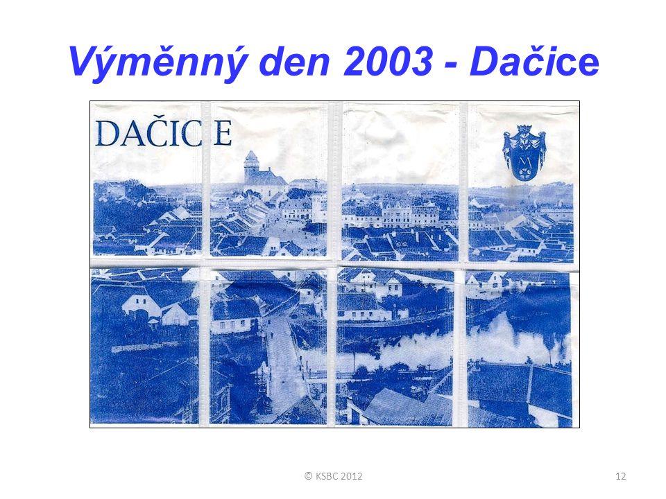 Výměnný den 2003 - Dačice © KSBC 2012