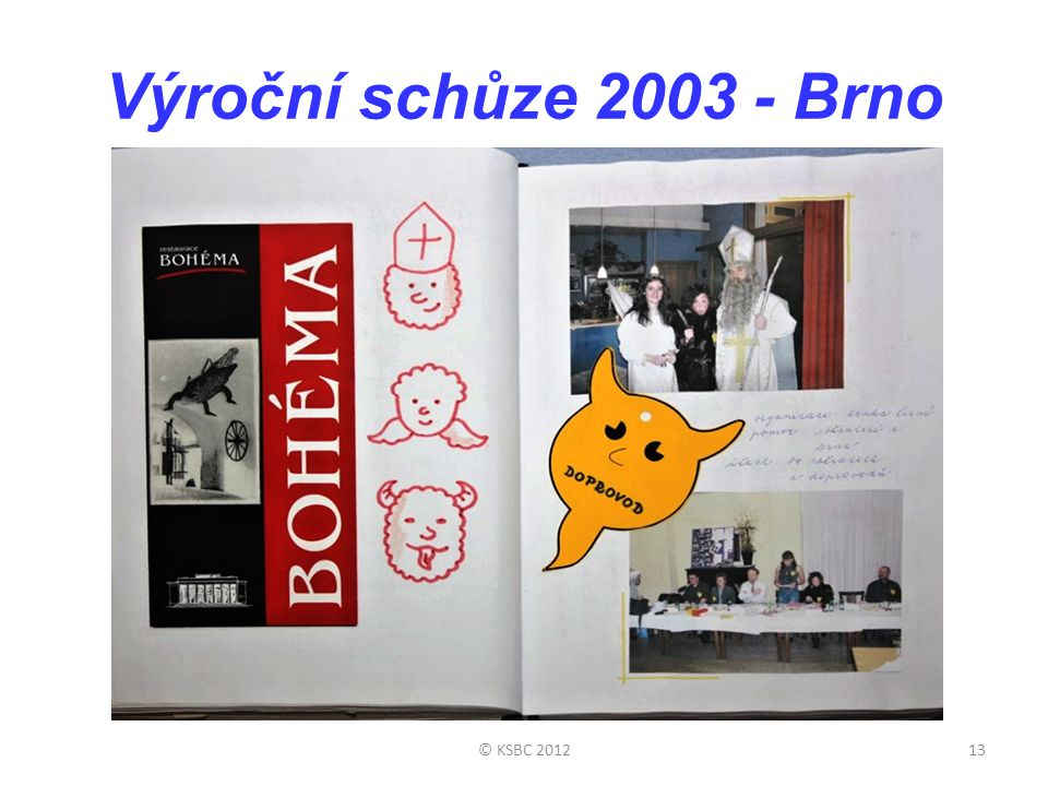 Výroční schůze 2003 - Brno © KSBC 2012