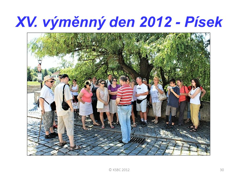 XV. výměnný den 2012 - Písek © KSBC 2012