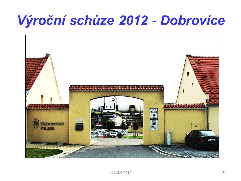 Výroční schůze 2012 - Dobrovice