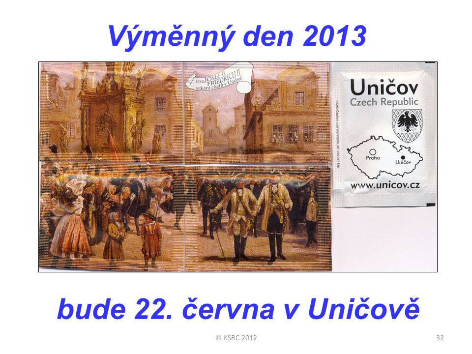 Výměnný den 2013 bude 22. června v Uničově