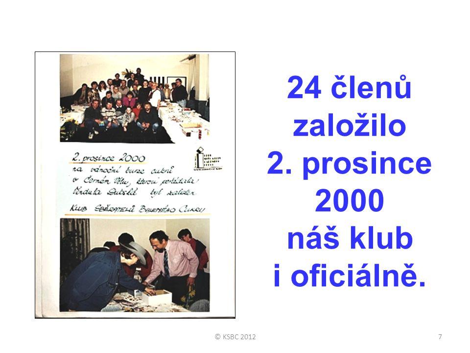 24 členů založilo 2. prosince 2000 náš klub i oficiálně.