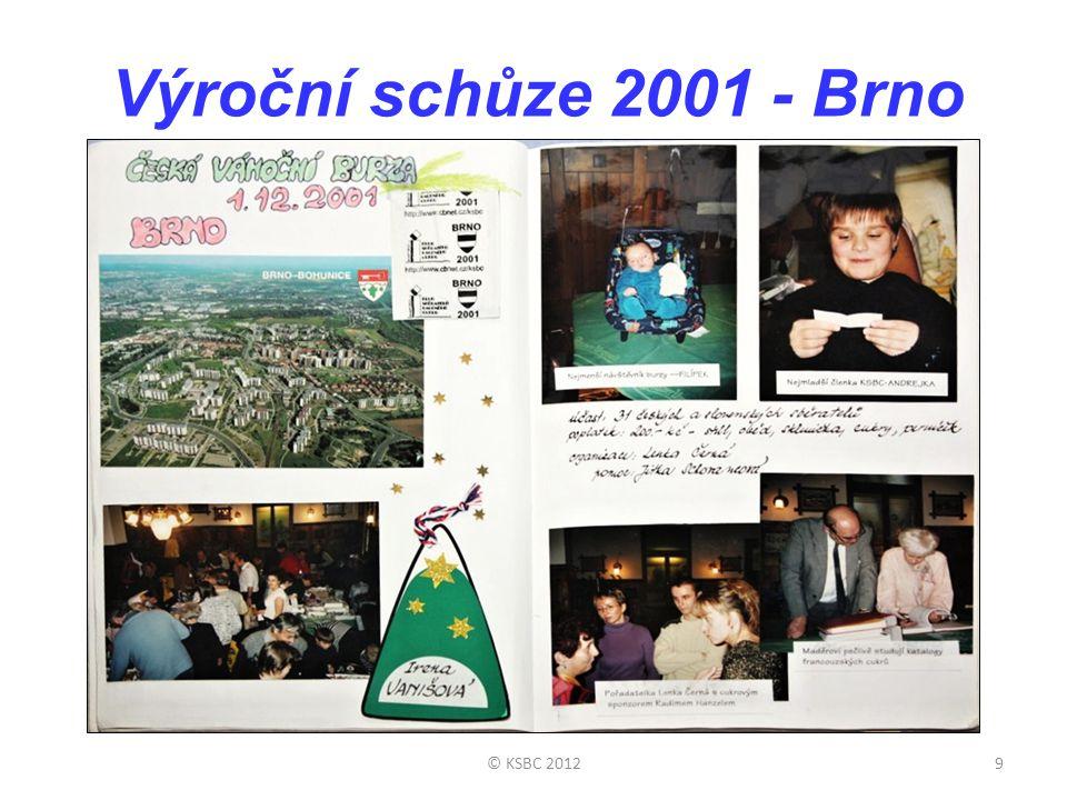 Výroční schůze 2001 - Brno © KSBC 2012