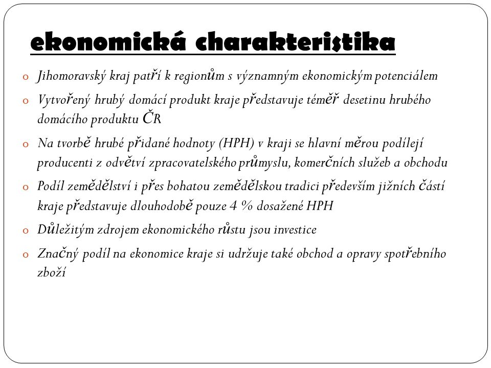ekonomická charakteristika