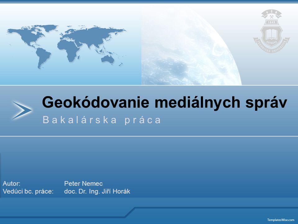 Geokódovanie mediálnych správ